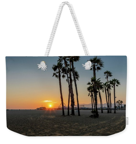 The Pier At Sunset Weekender Tote Bag