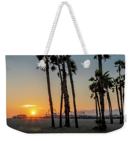 The Pier At Sunset - Square Weekender Tote Bag