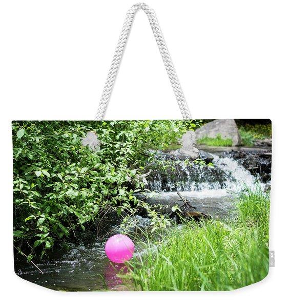 The Pink Balloon Weekender Tote Bag