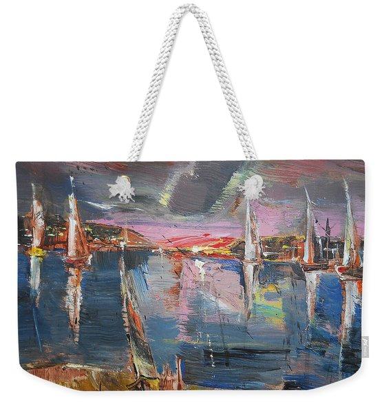 The Pink Bay Weekender Tote Bag
