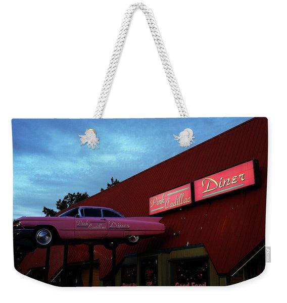 The Pink Cadillac Diner Weekender Tote Bag