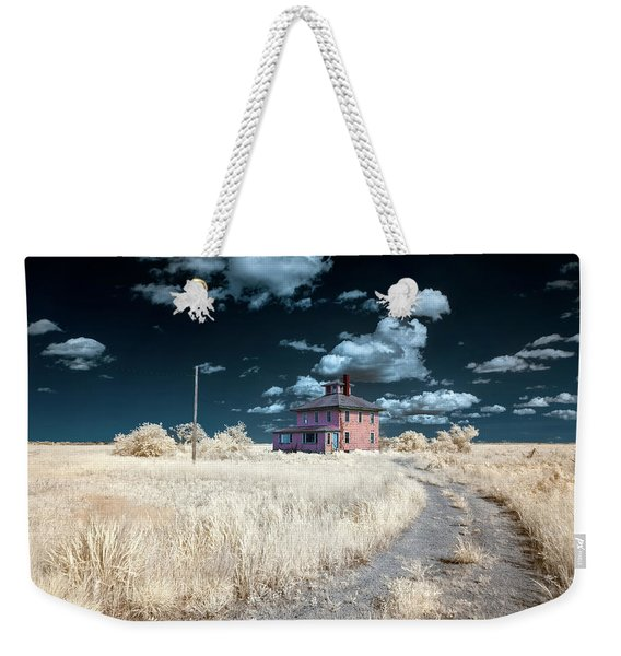 The Pink House In Halespectrum 1 Weekender Tote Bag
