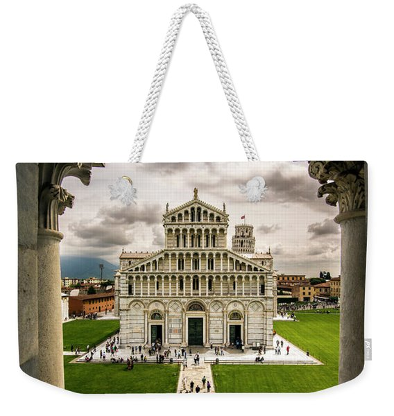 The Pisa Cathedral From The Bapistry Weekender Tote Bag