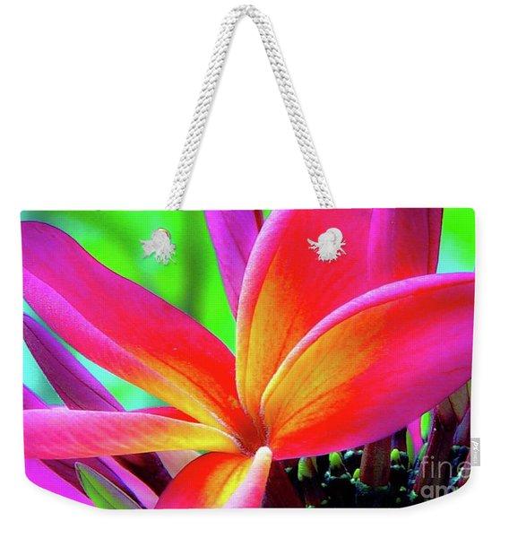 The Plumeria Flower Weekender Tote Bag