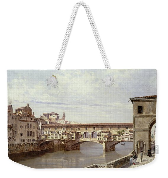 The Pontevecchio - Florence  Weekender Tote Bag