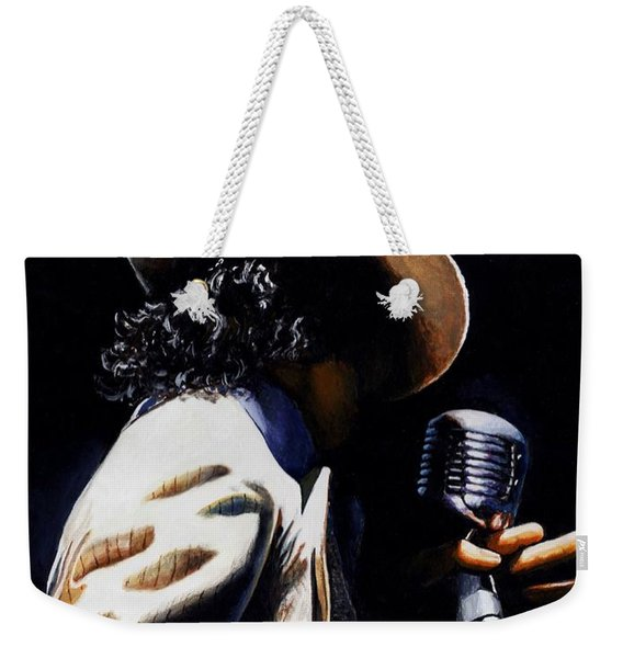 The Pop King Weekender Tote Bag