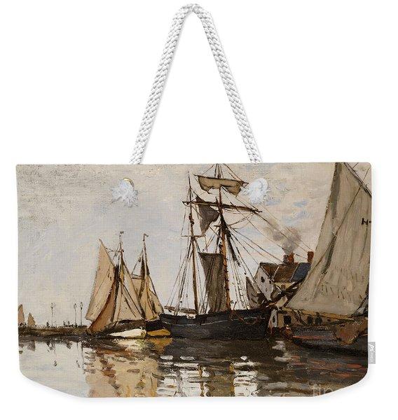 The Port Of Honfleur Weekender Tote Bag