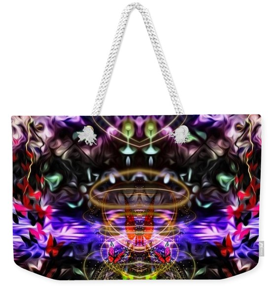 The Power Of Butterfly Lake Weekender Tote Bag