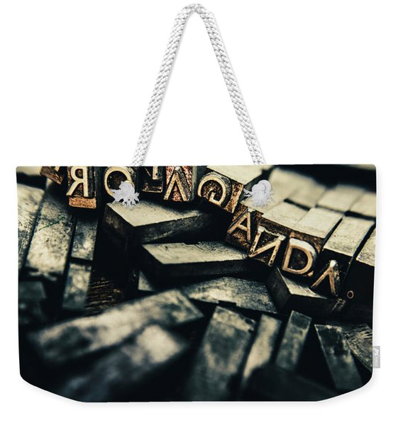The Pressing History Of Twisting The Narrative Weekender Tote Bag