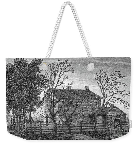 The Prison In Carthage, Illinois, In Which The Mormon Prophet Joseph Smith And Hyrum Died Weekender Tote Bag