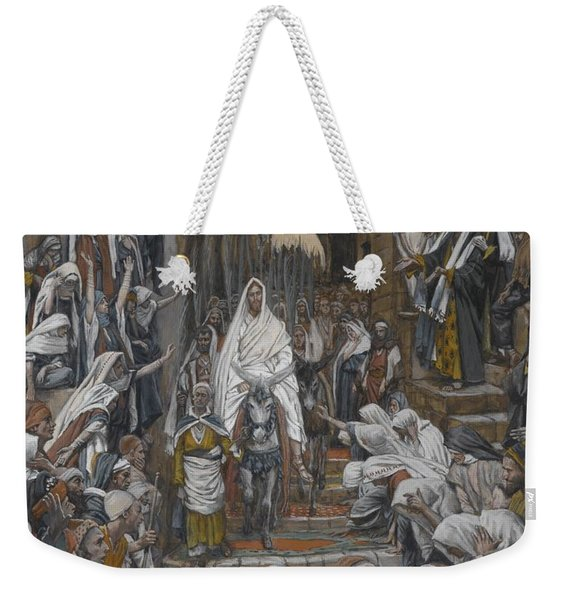 The Procession In The Streets Of Jerusalem Weekender Tote Bag