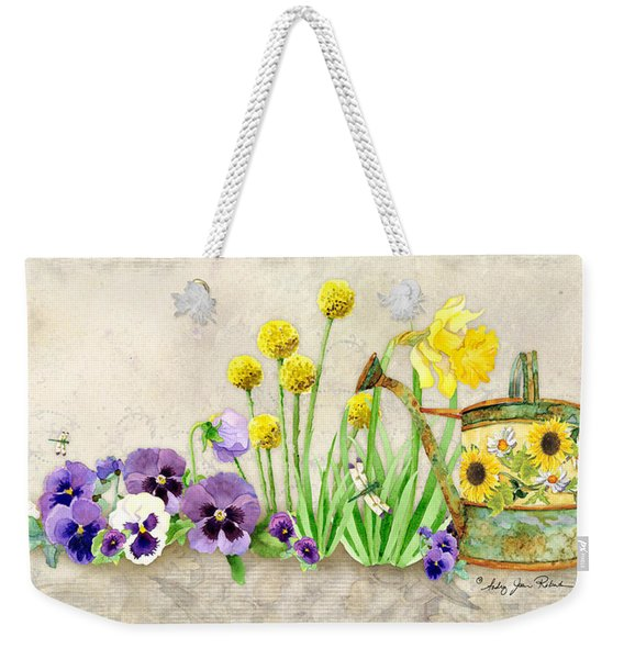 The Promise Of Spring - Pansy Weekender Tote Bag