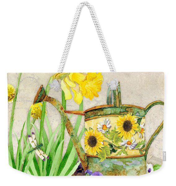 The Promise Of Spring - Watering Can Weekender Tote Bag