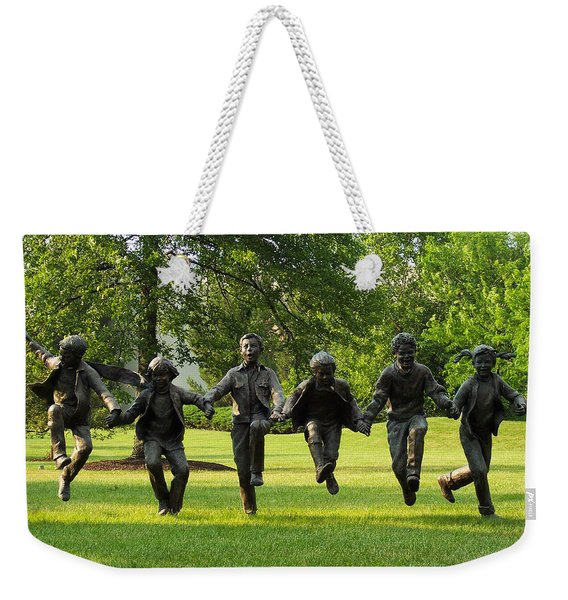 The Puddle Jumpers At Byers Choice Weekender Tote Bag