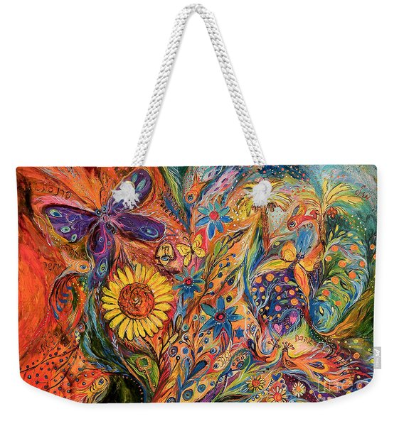 The Purple Butterfly Of Yotvata Weekender Tote Bag