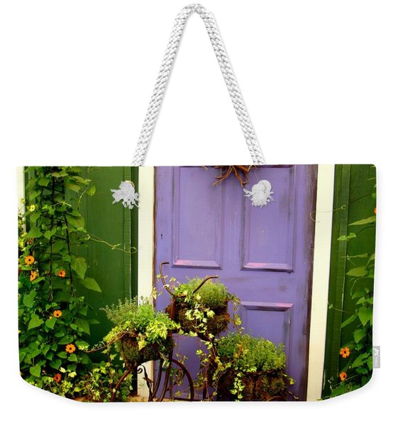 The Purple Door Weekender Tote Bag