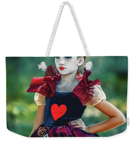 The Queen Of Hearts Alice In Wonderland Weekender Tote Bag