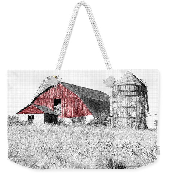 The Red Barn - Sketch 0004 Weekender Tote Bag