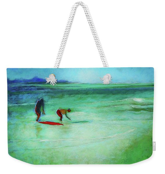 The Red Boogey Board Weekender Tote Bag