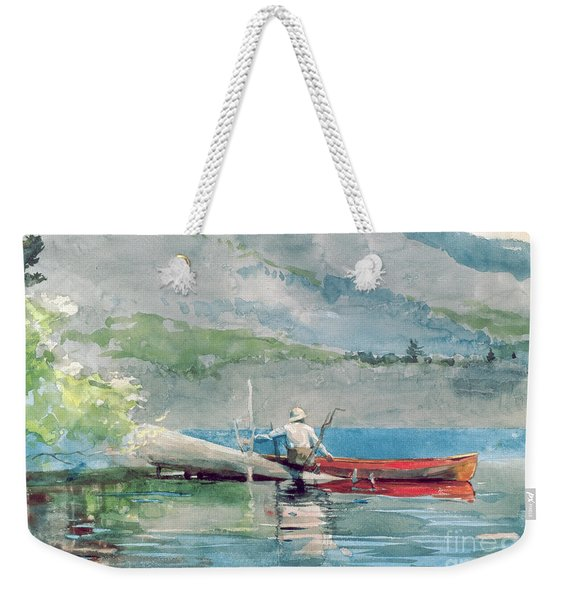 The Red Canoe Weekender Tote Bag