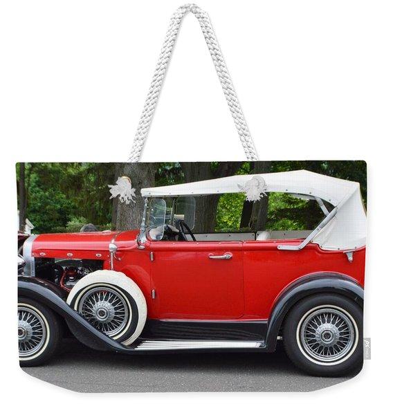 The Red Convertible Weekender Tote Bag