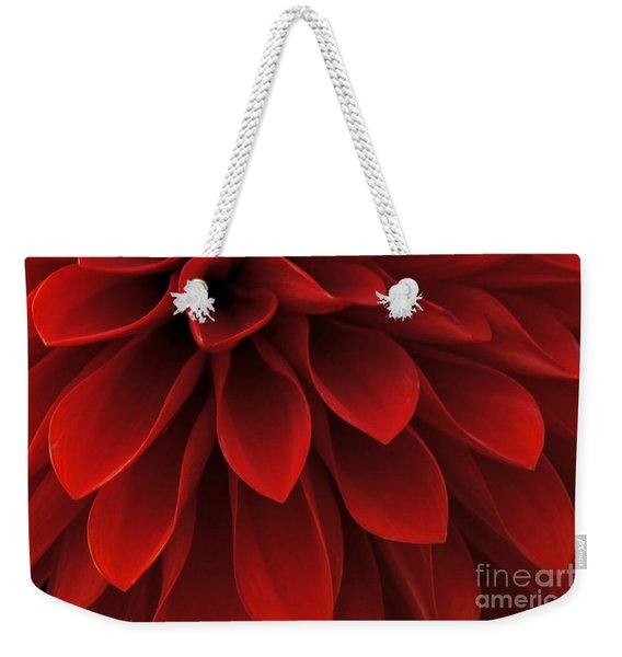 Weekender Tote Bag featuring the photograph The Reddest Red by Patricia Strand