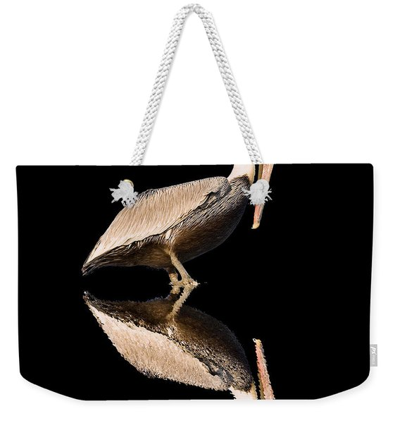 The Reflection Of A Pelican Weekender Tote Bag