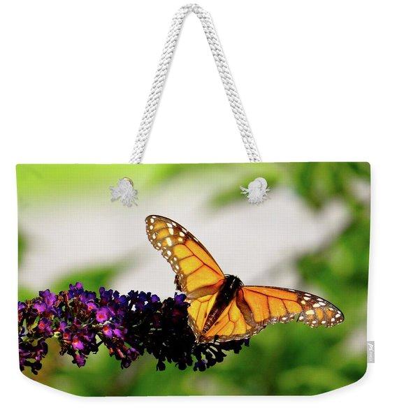The Resting Monarch Weekender Tote Bag