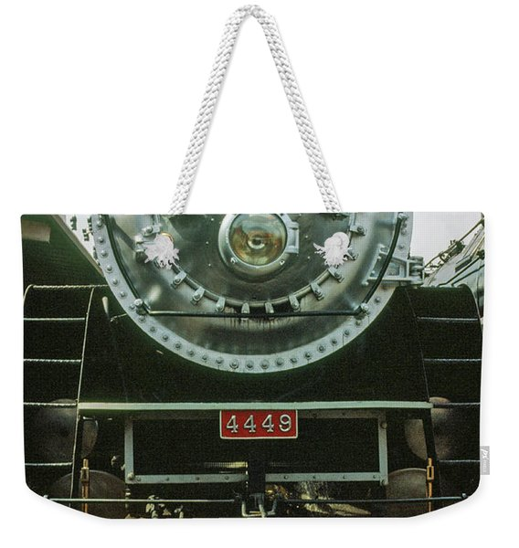 Weekender Tote Bag featuring the photograph The Restored Southen Pacific Daylight Locomotive No. 4449 by Frank DiMarco