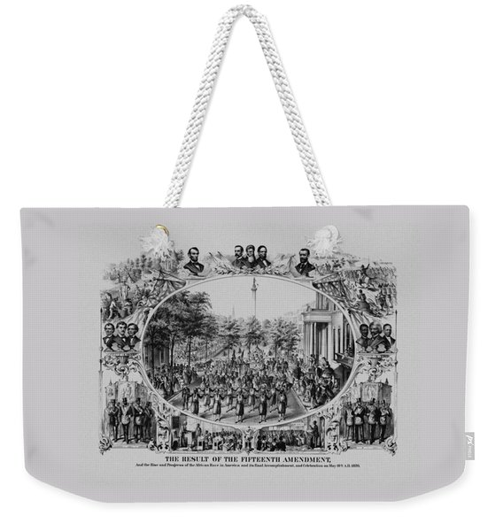 The Result Of The Fifteenth Amendment Weekender Tote Bag