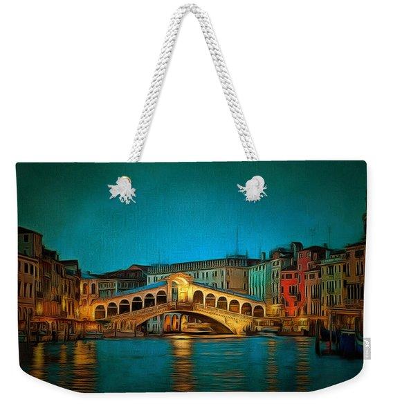 The Rialto Bridge Weekender Tote Bag