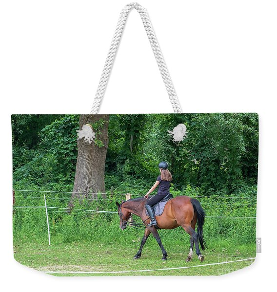 The Riding School In Suburb Weekender Tote Bag