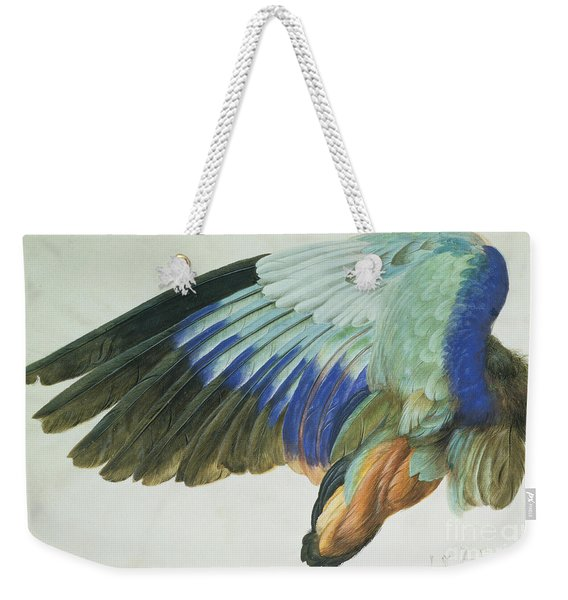 The Right Wing Of A Blue Roller Weekender Tote Bag