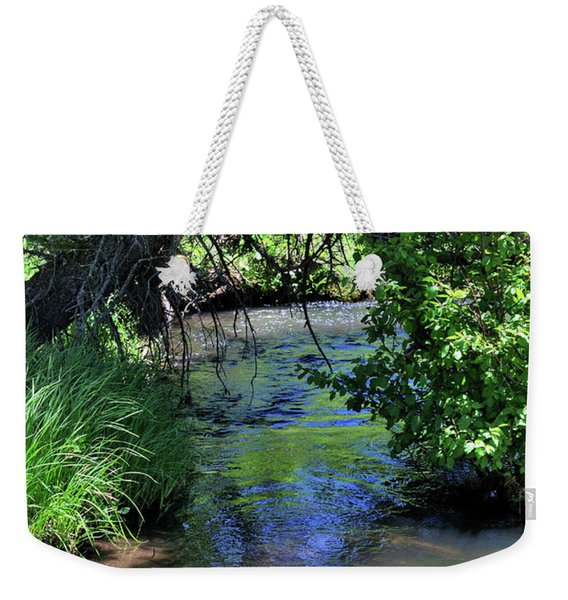 Weekender Tote Bag featuring the photograph The Rio Chiquito by Ron Cline