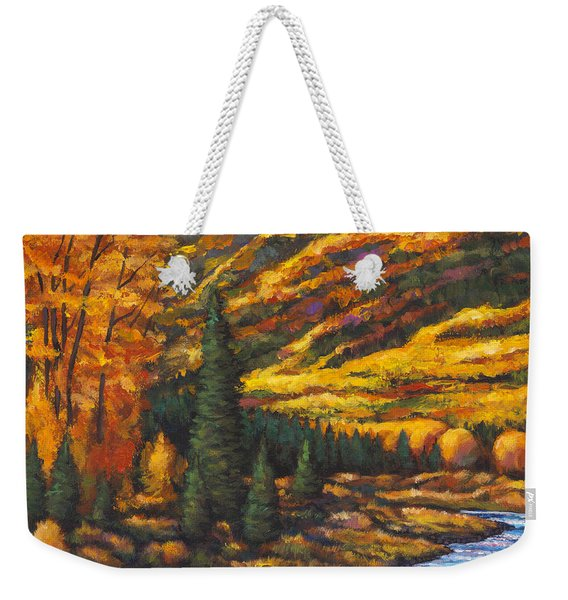 The River Runs Weekender Tote Bag