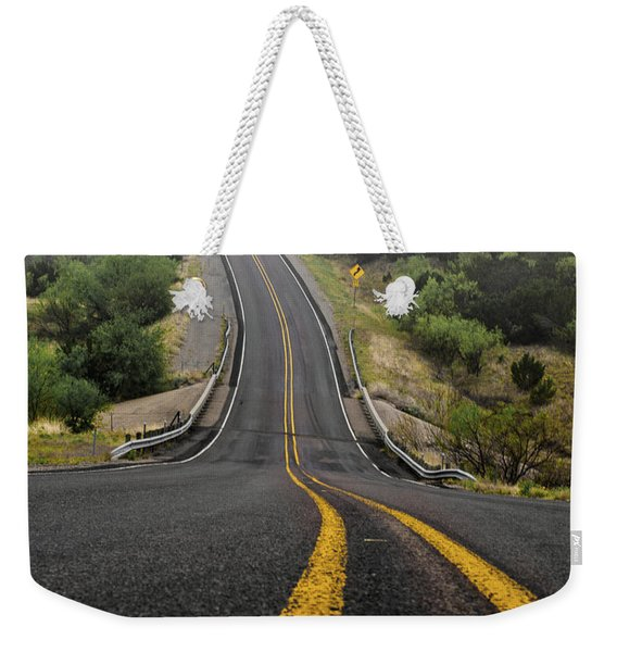 The Road Goes On Forever And The Party Never Ends Weekender Tote Bag