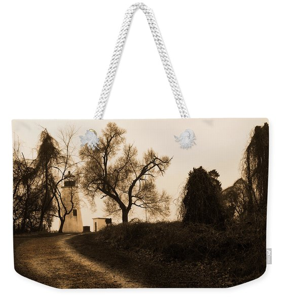 The Road To Turkey Point Lighthouse Weekender Tote Bag