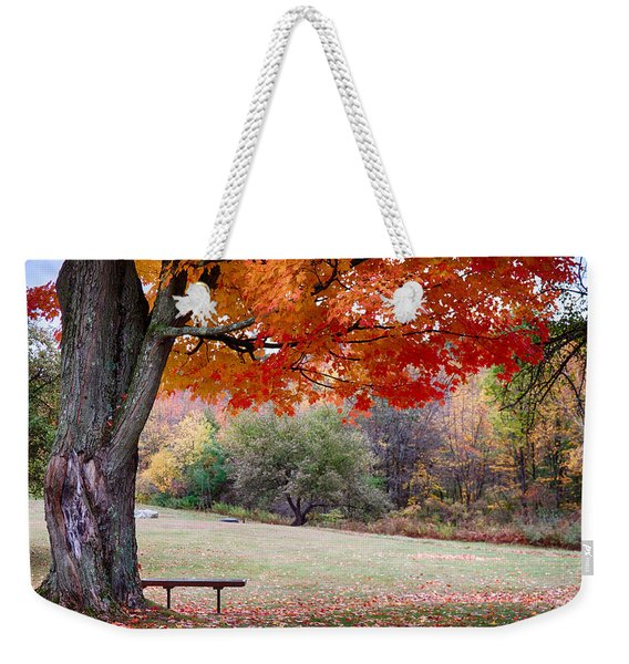 Weekender Tote Bag featuring the photograph The Robert Frost Farm by Jeff Folger