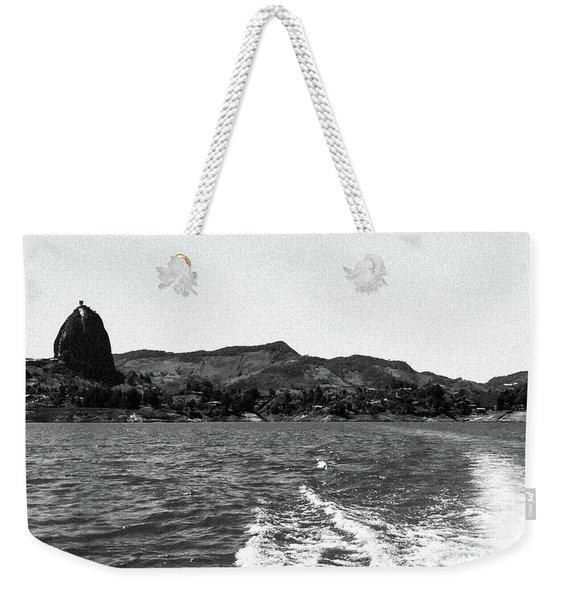 The Rock Of Guatape Weekender Tote Bag