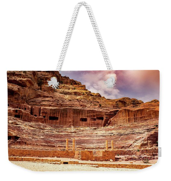 The Roman Theater At Petra Weekender Tote Bag
