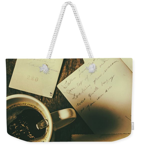 The Romantic Writers Loft Weekender Tote Bag