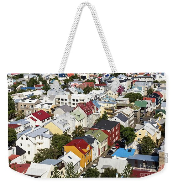 The Roofs Of Reykjavik Weekender Tote Bag