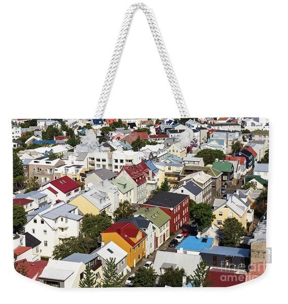 The Roofs Of Reykjavik Weekender Tote Bag