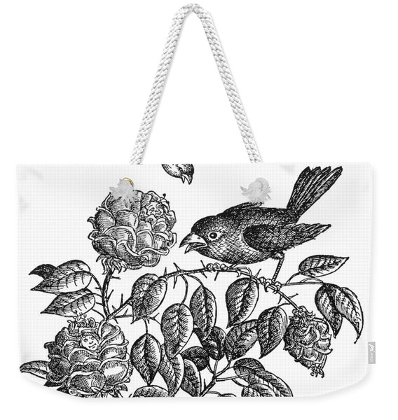 The Roses And The Sparrow Weekender Tote Bag