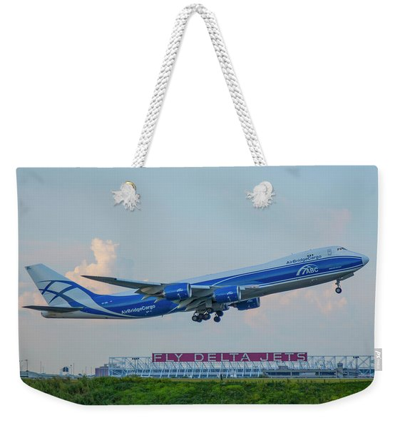 The Russian Connection Air Bridge Cargo Abc B747-8f Cargo Jet Art Weekender Tote Bag