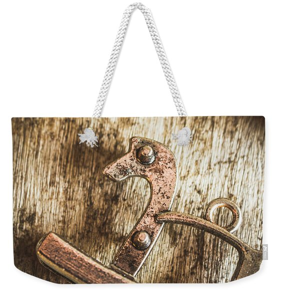 The Rusted Toy Horse Weekender Tote Bag