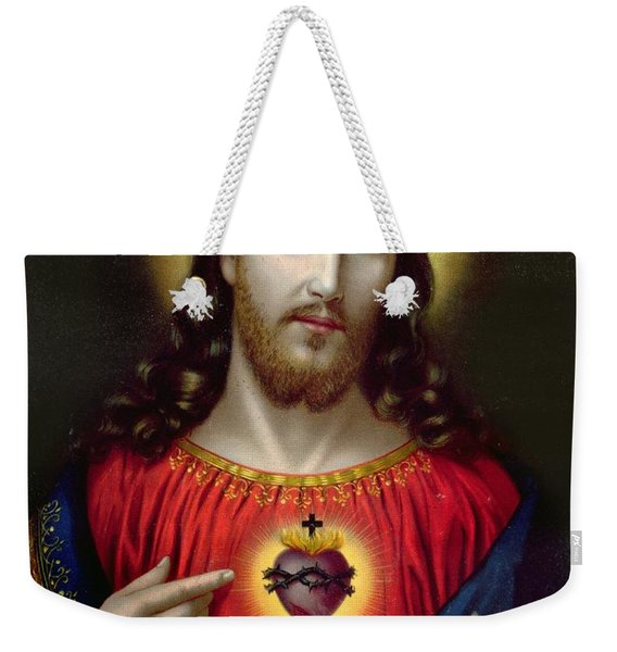 The Sacred Heart Of Jesus Weekender Tote Bag