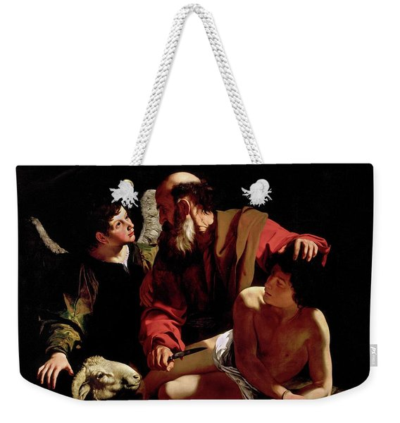 The Sacrifice Of Isaac Weekender Tote Bag