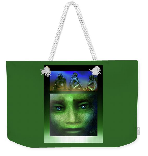 The Sadness Of Gaia Weekender Tote Bag