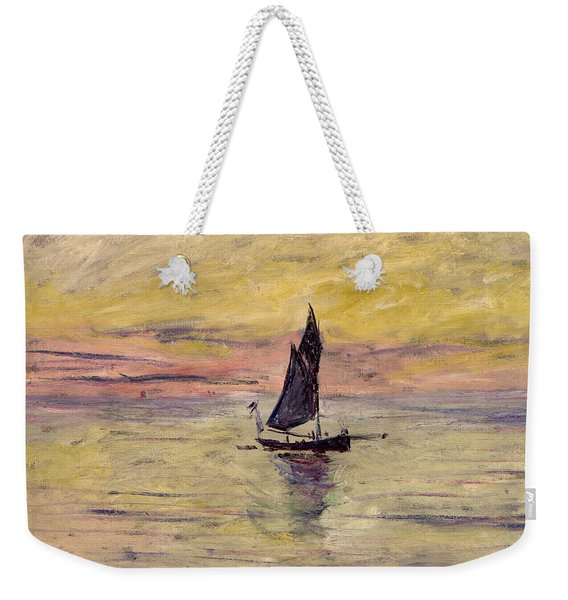 The Sailing Boat Evening Effect Weekender Tote Bag
